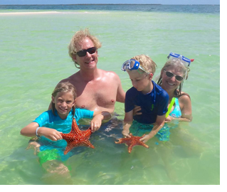 Family at Starfish Point