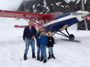 Landing on a Glacier in Denali, Alaska