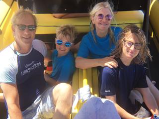 Jon, Kathryn & Boys Snorkel
