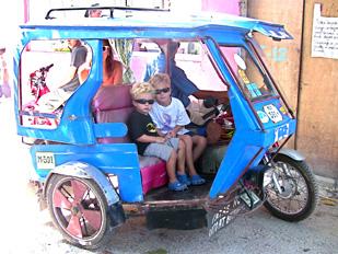 Julian & Jon-Jon on Tricycle