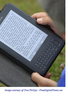Man With Kindle Closeup