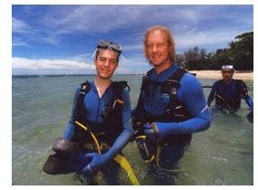 Calvin and Jon Dive Green Island, Australia
