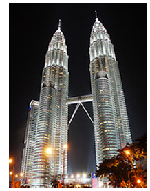 The Petronas Towers in K.L.