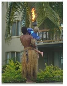 Jon-Jon Helps the Fijian Torchlighter